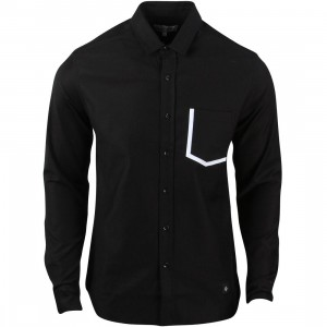 Akomplice Men LS Long Sleeve Button Up Shirt (black)