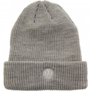 10 Deep Dot Logo Knit Beanie (gray / heather)