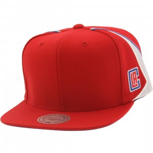 Mitchell And Ness Los Angeles Clippers Blank Front Snapback Cap (red)