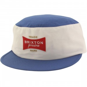 Brixton Mario Painters Cap (white / royal)