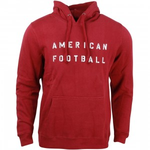 Undefeated Men American Football Hoodie (burgundy)
