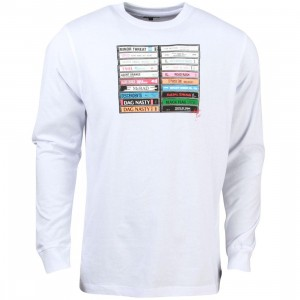 Acapulco Gold Men Hardcore Long Sleeve Tee (white)