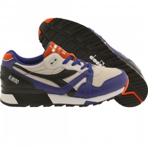 Diadora Men N9000 L-S (blue / orange / wind gray)