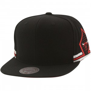 Mitchell And Ness Chicago Bulls Alternative Blank Front Snapback Cap (black)