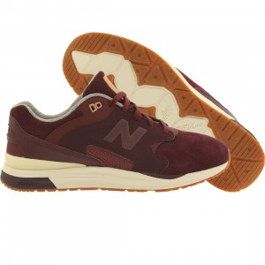 New Balance Men ML1550SA 1550 REVlite Suede (burgundy)