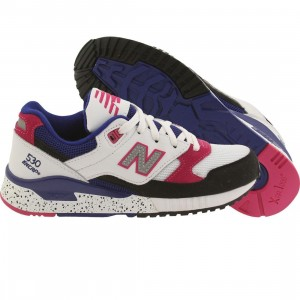 New Balance Women 530 90s Running Leather W530PSA (white / black / carnival pink)