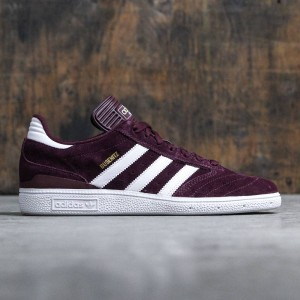 Adidas Men Busenitz (burgundy / maroon / running white / gold metallic)