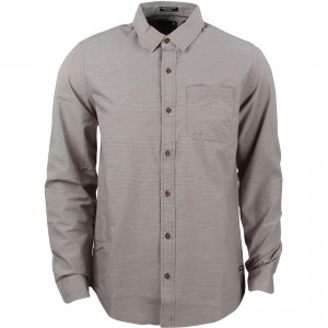 Tavik Men Maison Pinstripe Woven Shirt (gray / cannon)