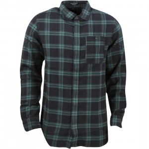Tavik Men Watts Long Sleeve Flannel Shirt (green / jungle)
