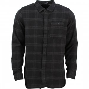 Tavik Men Watts Long Sleeve Flannel Shirt (black)