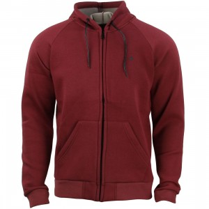 Tavik Men Cleon Hooded Fleece Jacket (burgundy / oxblood)