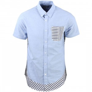 Staple Men Beta Short Sleeve Woven Shirt (blue / chambray)