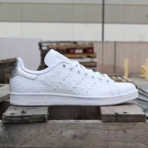 Adidas Men Stan Smith - Premium Ostrich Leather (white / silver)