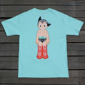 BAIT x Astro Boy Men Mechanics Tee (teal / celadon)