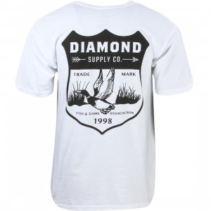 Diamond Supply Co Men Game Patch Tee (white)
