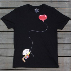 Eleven Paris x Family Guy Men Stewie Love Balloon Tee (black)
