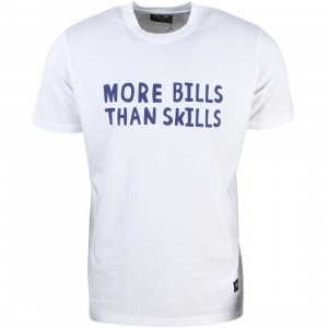 Lazy Oaf Men No Skills Tee (white)