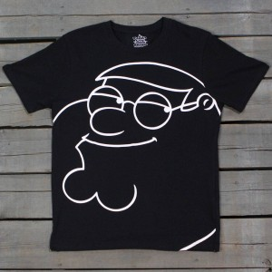 Eleven Paris x Family Guy Men Peter Griffin Portrait Tee (black)