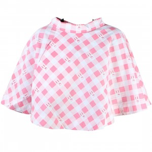 Lazy Oaf Women Bunny Gingham Skirt (pink)