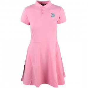 Lazy Oaf Women Animal Polo Dress (pink)