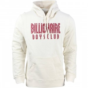 Billionaire Boys Club Men Stack Logo Pullover Hoody (white / cream)