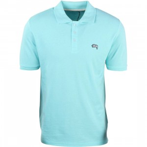 Stussy Men Pique Polo Shirt (teal)