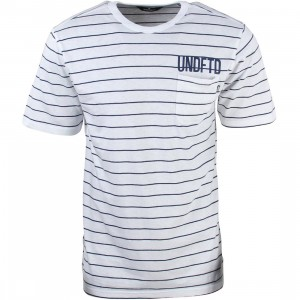 Undefeated Men Stripe Pocket Tee (white)