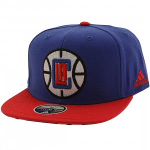 Adidas NBA Los Angeles Clippers On Court Snapback Cap (blue / red)