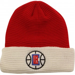 Adidas NBA Los Angeles Clippers Team Cuffed Knit Beanie (red / white)