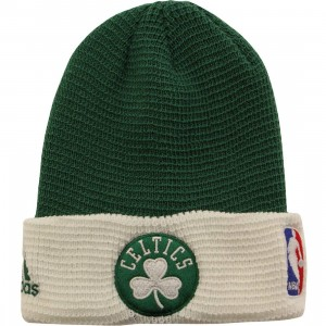 Adidas NBA Boston Celtics Team Cuffed Knit Beanie (green / white)