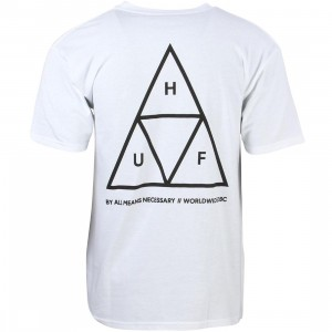 HUF Men Triple Triangle Tee - Essentials (white)