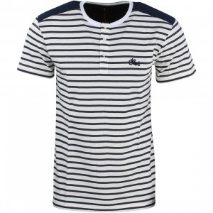 CLOT Men Quilted Border Henley Tee (white)