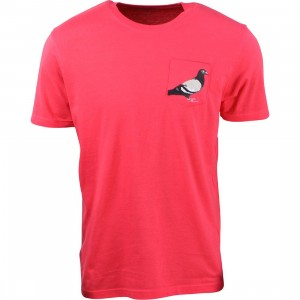 Staple Men Pigeon Pocket Tee (red / lava)