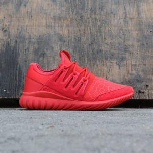 Adidas Big Kids Tubular Radial (red / core black)