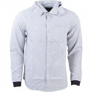 Diamond Supply Co Men Marquise Hooded Woven Sweater (blue / white)