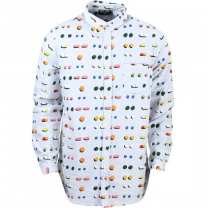 Lazy Oaf Men Medicated Shirt (white / blue)