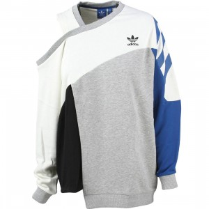 Adidas Women Couture Sweater (white / off white / medium grey heather / eqt blue / black)