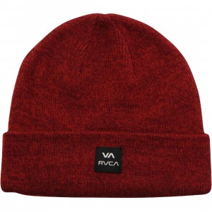 RVCA Convoy Beanie (red / heather)