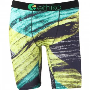 Ethika Men Kingston Boxers (yellow / green)