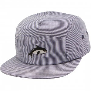 Lazy Oaf Whale Stripe Cap (navy)