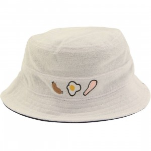 Lazy Oaf Full English Breakfast Bucket Hat (white)