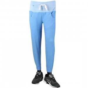 CLOT Men Reversed Sweatpants (blue / heather)