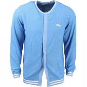 CLOT Men Reversed Open Slit Sweater (blue / heather)