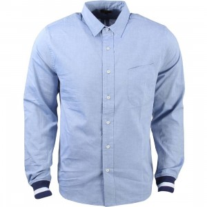 CLOT Men Ribbed Cuff Shirt (blue)