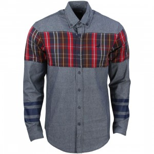 Staple Men Stormking Woven Shirt (blue / indigo)