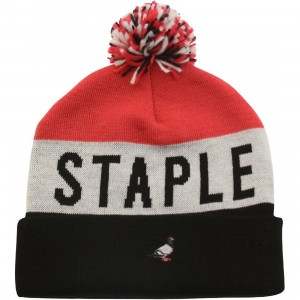 Staple Velocity Beanie (black / pink)