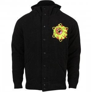 Mishka Men Atomic Keep Watch Hooded Varsity Jacket (black)