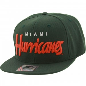 Starter University of Miami Cap (green / orange)