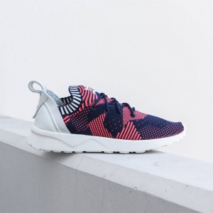 Adidas Women ZX Flux ADV Virtue Primeknit (red / shock red / collegiate navy)