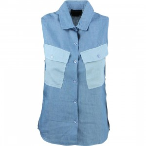 Stussy Women Tilted Denim Shirt (blue)